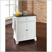 Crosley Furniture Newport Solid Black Granite Top White Kitchen Island