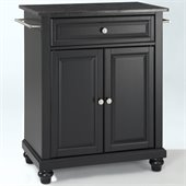 Crosley Furniture Cambridge Black Granite Top Kitchen Island in Black