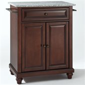 Crosley Furniture Cambridge Solid Granite Top Mahogany Kitchen Island