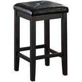 Crosley Furniture 24 Upholstered Square Bar Stool in Black