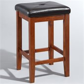 Crosley Furniture 24 Upholstered Square Bar Stool in Classic Cherry