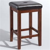 Crosley Furniture 24 Upholstered Square Bar Stool in Vintage Mahogany