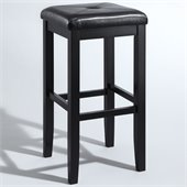 Crosley Furniture 29 Upholstered Square Bar Stool in Black
