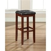 Crosley Furniture 29 Upholstered Square Bar Stool in Classic Cherry