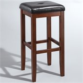 Crosley Furniture 29 Upholstered Square Bar Stool in Vintage Mahogany