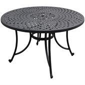 Crosley Furniture Sedona 48 Aluminum Dining Table in Charcoal Black