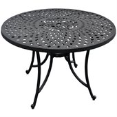 Crosley Furniture Sedona 42 Aluminum Dining Table in Charcoal Black