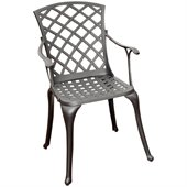 Crosley Furniture Sedona Charcoal Black High Back Arm Chair (Set of 2)
