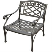 Crosley Furniture Sedona Cast Aluminum Club Chair in Charcoal Black