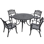 Crosley Furniture Sedona 48 5 Pc Dining Set w/ Arm Chairs in Black