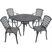 Crosley Furniture Sedona 48 5 Pc Dining Set w/ High Back Arm Chairs