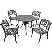 Crosley Furniture Sedona 42 5 Pc Dining Set w/ Arm Chairs in Black