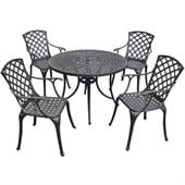 Crosley Furniture Sedona 42 5 Pc Dining Set w/ High Back Arm Chairs in Black