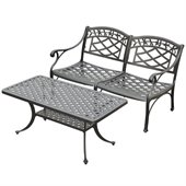 Crosley Furniture Sedona 2 Pc Black Outdoor Conversation Seating Set