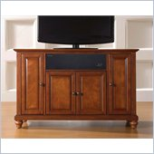 Crosley Cambridge 48 AroundSound TV Stand in Classic Cherry