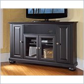 Crosley Alexandria 48 AroundSound Corner TV Stand in Black