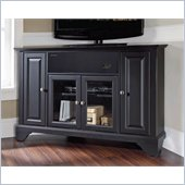 Crosley LaFayette 48 AroundSound Corner TV Stand in Black