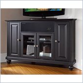 Crosley Cambridge 48 AroundSound Corner TV Stand in Black