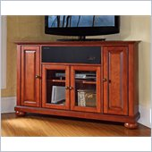 Crosley Alexandria 48 AroundSound Corner TV Stand in Classic Cherry