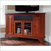 Crosley LaFayette 48 AroundSound Corner TV Stand in Classic Cherry