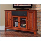 Crosley Newport 48 AroundSound Corner TV Stand in Classic Cherry