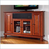 Crosley Cambridge 48 AroundSound Corner TV Stand in Classic Cherry