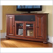 Crosley Alexandria 48 AroundSound Corner TV Stand in Vintage Mahogany