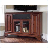 Crosley LaFayette 48 AroundSound Corner TV Stand in Vintage Mahogany
