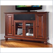 Crosley Cambridge 48 AroundSound Corner TV Stand in Vintage Mahogany