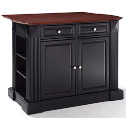 Crosley Coventry Kitchen Island Breakfast Bar in Black