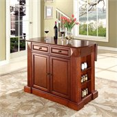 Crosley Coventry Kitchen Island Breakfast Bar in Classic Cherry