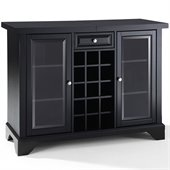 Crosley LaFayette Sliding Top Bar Cabinet in Black