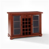 Crosley Alexandria Sliding Top Bar Cabinet in Classic Cherry