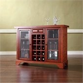 Crosley LaFayette Sliding Top Bar Cabinet in Classic Cherry