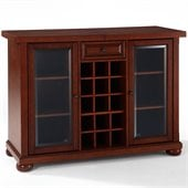 Crosley Alexandria Sliding Top Bar Cabinet in Vintage Mahogany