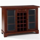 Crosley LaFayette Sliding Top Bar Cabinet in Vintage Mahogany
