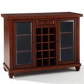 Crosley Cambridge Sliding Top Bar Cabinet in Vintage Mahogany