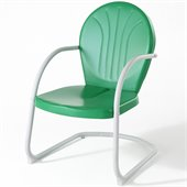 Crosley Griffith Metal Chair in Grasshopper Green 