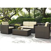 Crosley Palm Harbor 4 Piece Outdoor Wicker Seating Set