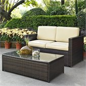 Crosley Palm Harbor 2 Piece Outdoor Wicker Seating Set
