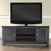 Crosley Furniture TV Stand with Sound Bar in Black