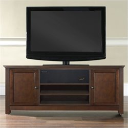 Crosley Furniture TV Stand with Sound Bar in Mahogany