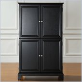 Crosley Furniture Alexander Multimedia Armoire in Black