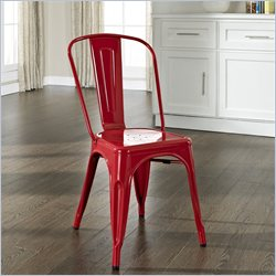 Crosley Furniture Amelia Metal Cafe Chair in Red