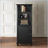 Crosley Furniture Cambridge 60 Audio Pier in Black