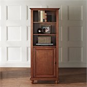 Crosley Furniture Cambridge 60 Audio Pier in Classic Cherry