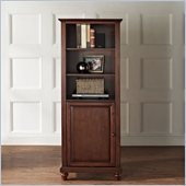 Crosley Furniture Cambridge 60 Audio Pier in Vintage Mahogany