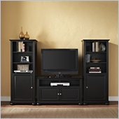 Alexandria 42 TV Stand and Two 60 Audio Piers in Black