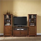 Alexandria 42 TV Stand and 2 60 Audio Piers in Classic Cherry