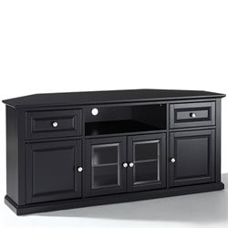 Crosley Furniture 60 Corner TV Stand in Black